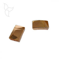 Cierre magnetico rectangle peltre oro rosa 10 mm