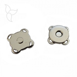 Magnetic button to sew 14mm silvery