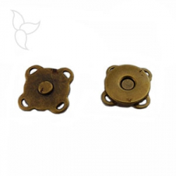 Magnetic button to sew 14mm bronze