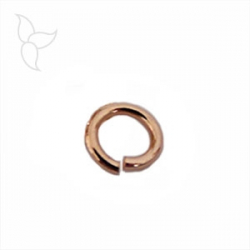 Round jumpring 9mm big section golden pink