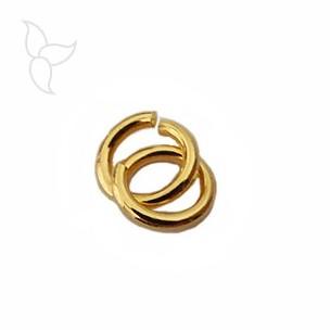 Anilla redonda 9mm hilo grueso oro