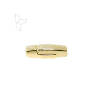 Petit fermoir magnétique rectangle doré cuir plat 3 mm