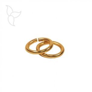 Anilla redonda y abierta 11 mm hilo grueso oro
