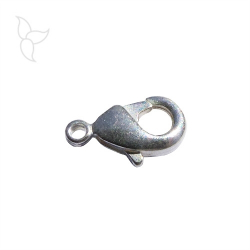 Brass lobster clasp 9,60 mm silver plated