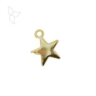 Pendiente pequeña estrella dorada