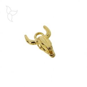 Pendentif tête de taureau doré