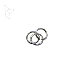 Silver plated open jump ring 6 mm