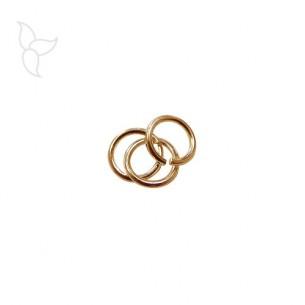 Anilla redonda y abierta 6 mm dorado
