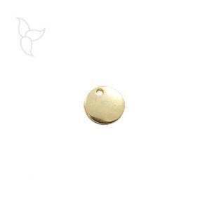 Pendentif petite medaille dorée