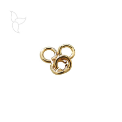 Golden jumping ring 6 mm