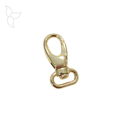 Golden oval swivel trigger snap hook 44.50 mm