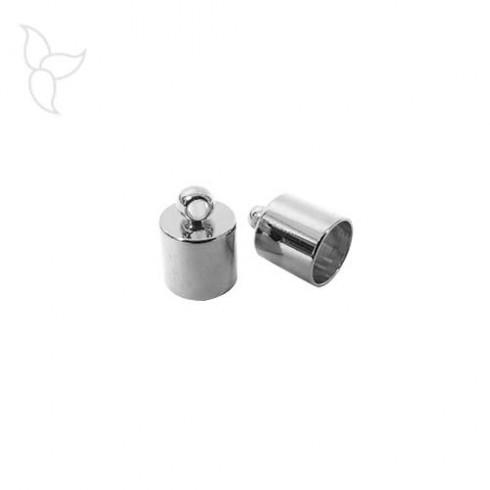 Embout cuir rond 6mm avec anneau