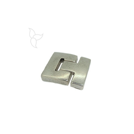Buckle clasp flat leather 30mm