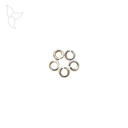 Open silver plated round jumping 4 mm section 1.10 mm