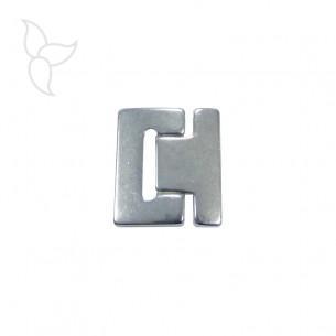 Fermoir boucle cuir plat 40mm