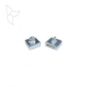 Passant anneau accrochage 10mm plaqué argent
