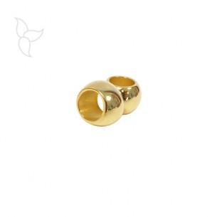 Petite perle ronde dorée trou 2.8 mm