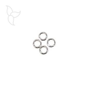 10 m Anilla redonda 10 mm hilo 1.2 mm banado plata