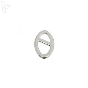 Adorno ovalado pequeño modelo chapado en plata