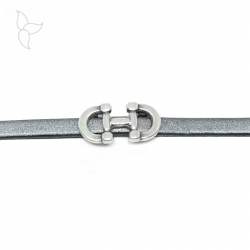 Doble horse bit slider for flat leather 10mm.