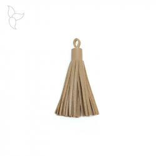 Camel leather tassel 5 cm