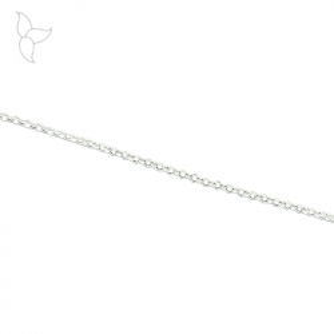 Silberplattiertem Ketten Jaseron kleine Netz 2 mm