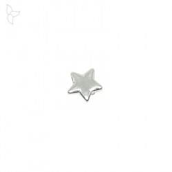 Silvery star slider flat leather 3 mm