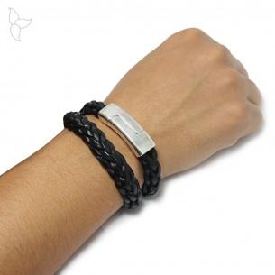 Rectangular magnetic clasp mini regaliz leather