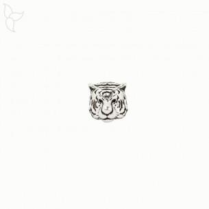 Perla o adorno cabeza de tigre para cordones redondos 1mm