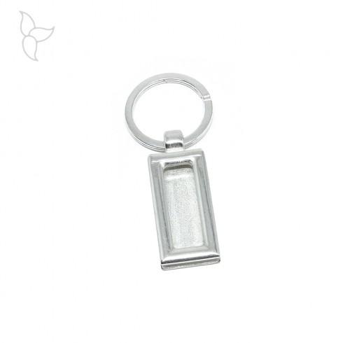 Rectangle keyring ring