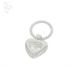 Heart keyring ring