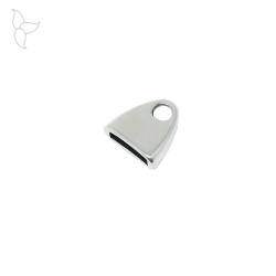 Terminal simple for flat leather 10mm