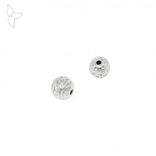 Petite perle ronde trou 1.3 mm