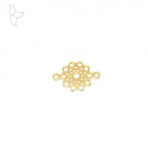 Connector o entrepieza mandala dorada