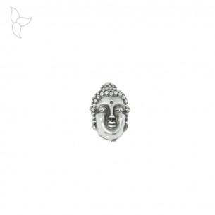 Pasador cabeza de Buda para cuero 10mm.