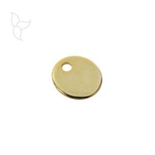 Colgante medalla dorada 26mm