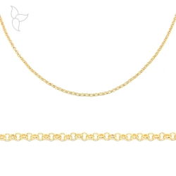 Gold color chain small round link 2 mm
