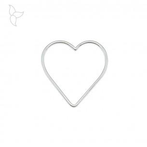 Pendentif coeur contour.