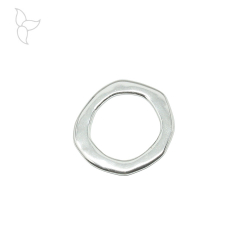 Slider big ring 56mm silver plated