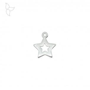 Colgante estrella plateado