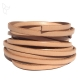Natural flat leather 5mm