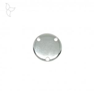 Pendentif ou connecteur rond avec 3 trous