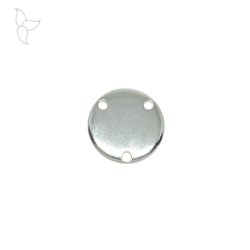 Round pendant or connector with 3 holes
