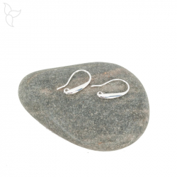 Silvered long earwire hook