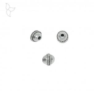 Perles ronde avec motif central trou 1.9 mm