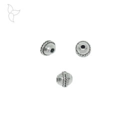 Round beads 7 mm hole 1.9 mm