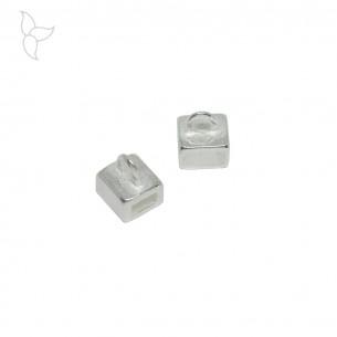 Passant anneau accrochage 5 mm plaqué argent
