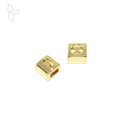 Hanging ring slider 5 mm gold color.
