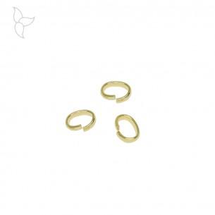 Ringe oval versilbert