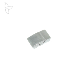 Rectangular clasp curved flat leather 10 mm